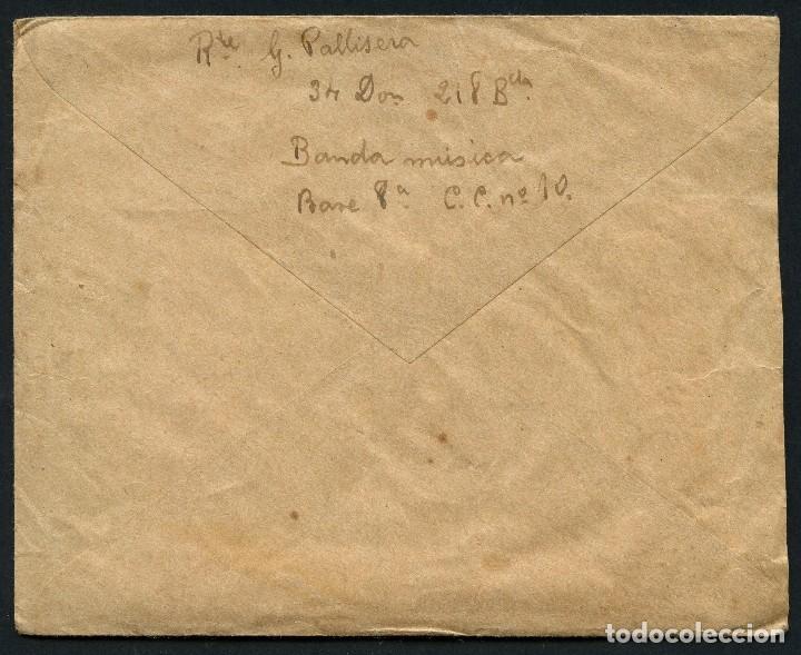 Sellos: GUERRA CIVIL, CARTA, 34 DIVISIÓN, 218 BRIGADA MIXTA, BANDA DE MÚSICA, 1938 - Foto 3 - 124659883