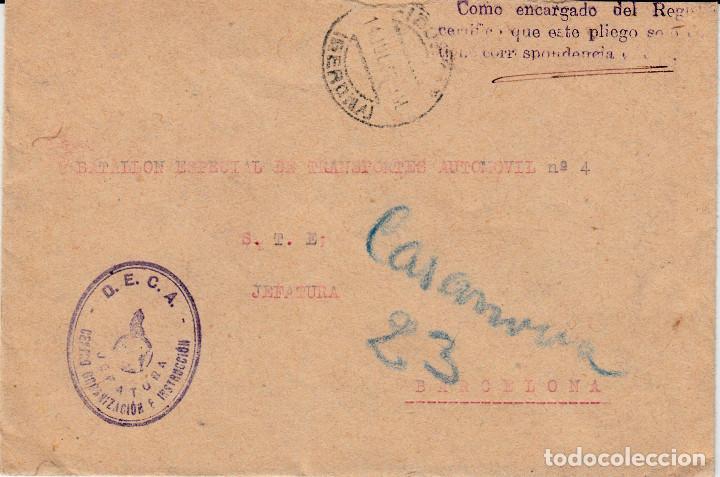 CARTA GUERRA CIVIL .- D E C A CENTRO ORGANIZACIÓN E INSTRUCCIÓN- JEFATURA (Sellos - España - Guerra Civil - De 1.936 a 1.939 - Cartas)