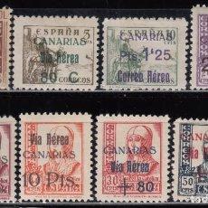 Sellos: ESPAÑA, CANARIAS 1938 EDIFIL Nº 44 / 51 / * / . Lote 125074491