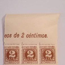 Sellos: BLOQUE DE 6 SELLOS DEL ESTADO ESPAÑOL DEL AÑO 1937-40 NUEVOS CON GOMA. Lote 125166835