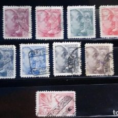 Sellos: SELLOS USADOS ESPAÑA 1939. FRANCO GRABADOR SANCHEZ TODA. EDIFIL 867 A 872 + 874 A 876 + 879 USADOS. Lote 125186555