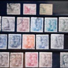 Sellos: SERIE COMPLETA FRANCO 1949 DENTADO FINO. EDIFIL 1044 A 1061 USADO. Lote 125186663