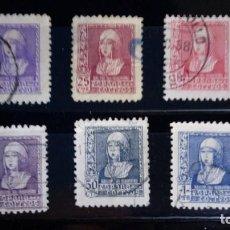 Sellos: SERIE COMPLETA ISABEL ESPAÑA 1938. EDIFIL 855 A 860 USADO. Lote 125186939
