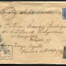 Sellos: GUERRA CIVIL POST, SOBRE, 104 BATALLÓN DE TRABAJADORES, BADAJOZ, 1939. Lote 125408287