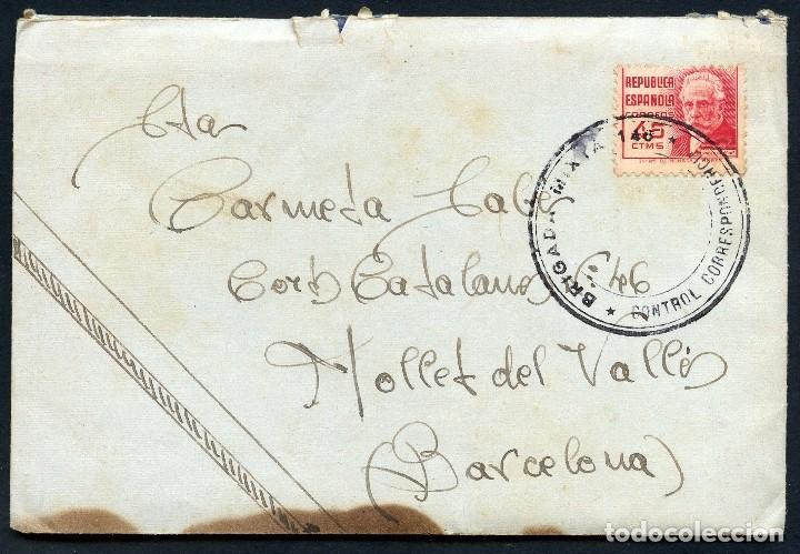 GUERRA CIVIL, CARTA, 30 DIVISIÓN, 146 BRIGADA MIXTA, 1938 (Sellos - España - Guerra Civil - De 1.936 a 1.939 - Cartas)