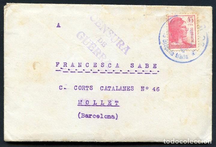 GUERRA CIVIL, CARTA, 44 DIVISIÓN, 145 BRIGADA MIXTA, 1938 (Sellos - España - Guerra Civil - De 1.936 a 1.939 - Cartas)