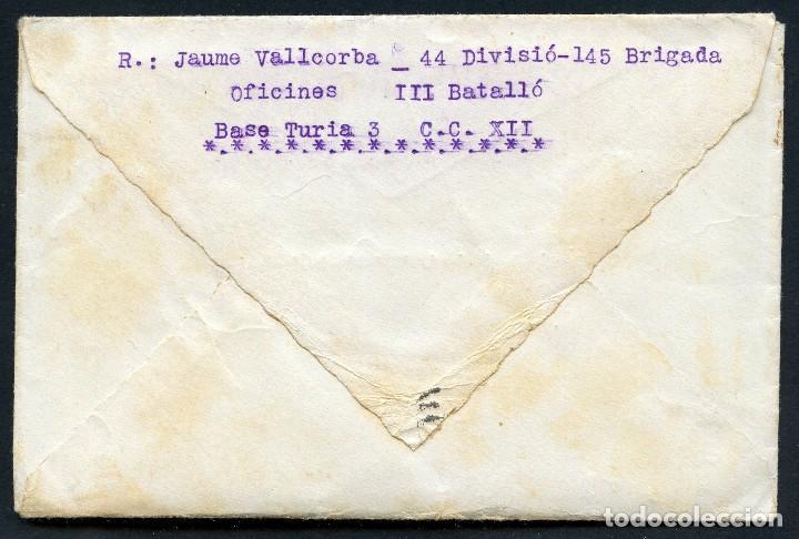 Sellos: GUERRA CIVIL, CARTA, 44 DIVISIÓN, 145 BRIGADA MIXTA, 1938 - Foto 2 - 126017239