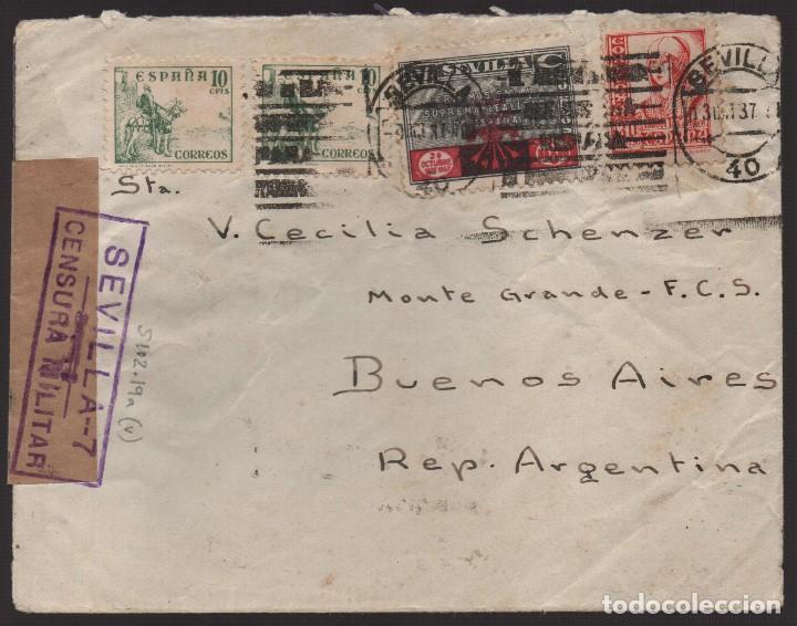 CARTA, CIRCULO LABRADORES DE SEVILLA, VER FOTOS (Sellos - España - Guerra Civil - Locales - Usados)