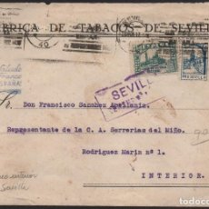 Sellos: CARTA, FABRICA DE TABACOS DE SEVILLA, VER FOTOS. Lote 126127071