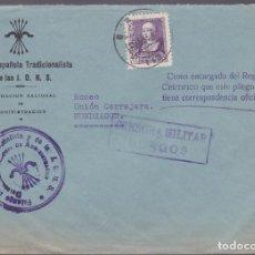 Sellos: F27-36-GUERRA CIVIL -CARTA FALANGE JONS BURGOS 1939. CENSURA. Lote 126776739
