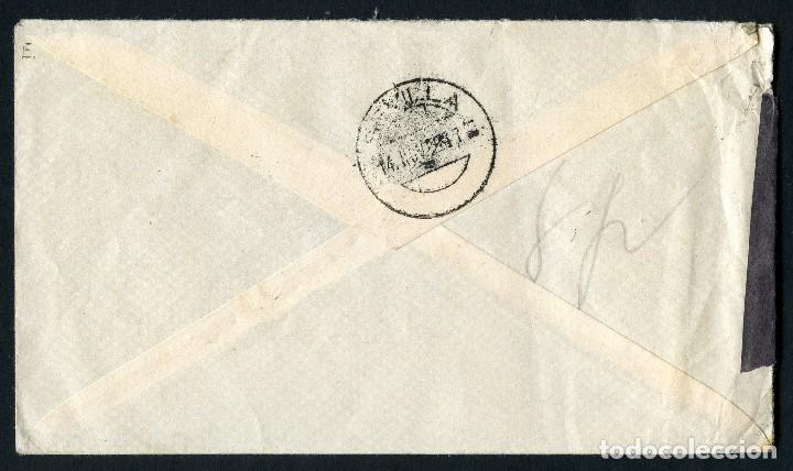 Sellos: GUERRA CIVIL, SOBRE, CORREO AÉREO LAS PALMAS, 1938, CENSURA MILITAR SEVILLA - Foto 2 - 126826315