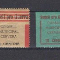 Sellos: CERVERA (LÉRIDA). GÓMEZ GUILLAMÓN 371/74 *. Lote 127299091