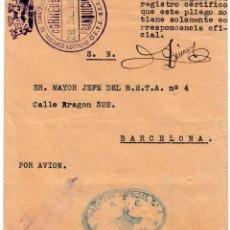 Sellos: GUERRA CIVIL - SOBRE BATALLON ESPECIAL NUM.4 STE -FRANQUICIA TRANSPORTE AUTOMOVIL JULIO 1938 . Lote 127373455