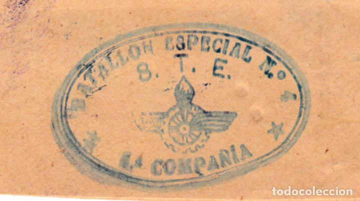 Sellos: GUERRA CIVIL - SOBRE BATALLON ESPECIAL NUM.4 STE -FRANQUICIA TRANSPORTE AUTOMOVIL JULIO 1938 - Foto 2 - 127373455