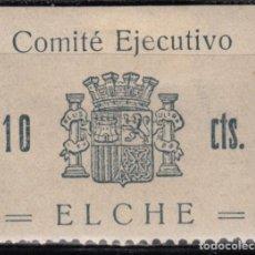 Sellos: ELCHE, COMITÉ EJECUTIVO , 10CTS ,. Lote 127493987