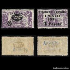Sellos: 1938. FIESTA DEL TRABAJO. SERIE COMPLETA .NUEVO LUJO. EDIF, Nº 761- 762. Lote 127602443