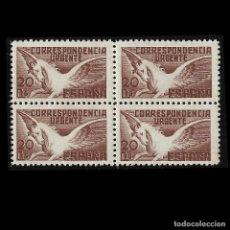 Sellos: SELLOS. ESTADO ESPAÑOL, 1938. U PEGASO. BLOQUE DE 4. NUEVO**. EDIF. Nº 861. Lote 127605303