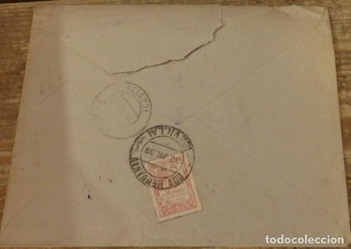 Sellos: DOS HERMANAS, SEVILLA, 1939, SOBRE CIRCULADO A CHIPIONA CON CENSURA MILITAR,RARO - Foto 2 - 127618423