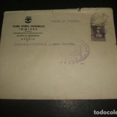 Sellos: CARTA CIRCULADA DE MADRID A CUERVA TOLEDO CENSURA MADRID. Lote 128569935