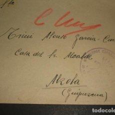 Sellos: CARTA CIRCULADA DE CUERVA TOLEDO A MADRID CENSURA BANDERA DE CASTILLA FALANGE BURGOS . Lote 128570163