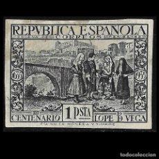 Sellos: 1935. III CENT. LOPE DE VEGA. 1P PIZARRA. SIN DENTAR. NUEVO EDIF. Nº 693. Lote 128577523