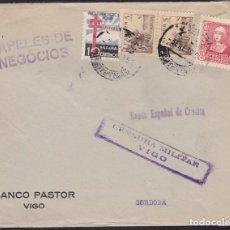 Sellos: F3-89- GUERRA CIVIL CARTA VIGO-CÓRDOBA 1939. CENSURA Y TUBERCULOSOS. Lote 128723879