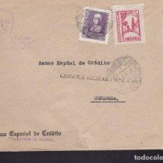 Sellos: F3-91- GUERRA CIVIL CARTA VILLANUEVA DE CÓRDOBA 1939. LOCAL Y CENSURA . Lote 128724519