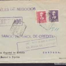 Sellos: F3-94- GUERRA CIVIL CERTIFICADO ALGECIRAS (CÁDIZ) 1939. LOCAL Y CENSURA CAMPO GIBRALTAR. Lote 128726243