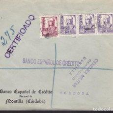 Sellos: F3-95- GUERRA CIVIL CERTIFICADO MONTILLA (CÓRDOBA) 1938. LOCAL Y CENSURA . Lote 128726407