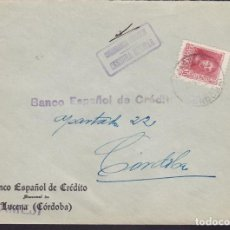 Sellos: F3-96- GUERRA CIVIL CARTA BENAMEJÍ (CÓRDOBA) 1938. LOCAL Y CENSURA N/C. Lote 128727315