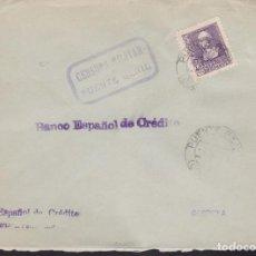 Sellos: F3-97- GUERRA CIVIL CARTA PUENTE GENIL (CÓRDOBA) 1939. LOCAL Y CENSURA. Lote 128727507