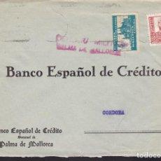 Sellos: F3-98- GUERRA CIVIL CARTA PALMA DE MALLORCA 1938. LOCAL Y CENSURA. . Lote 128727835