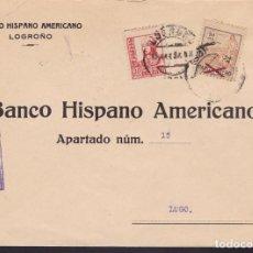 Sellos: F3-98- GUERRA CIVIL CARTA LOGROÑO- LUGO 1937. LOCAL Y CENSURA. . Lote 128727979
