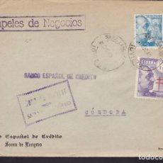 Sellos: F3-99- GUERRA CIVIL CARTA SAMA DE LANGREO (OVIEDO) 1940. FRANCO TUBERCULOSOS Y CENSURA. . Lote 128728131
