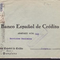 Sellos: F3-100- GUERRA CIVIL CARTA PAMPLONA -BURGOS 1937. CENSURA. Lote 128728747