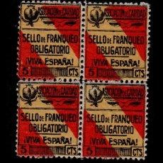 Selos: L30-8 GUERRA CIVIL GRANADA FESOFI Nº 37 EN BLOQUE DE 4. Lote 128828635