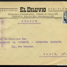 Sellos: GUERRA CIVIL, SOBRE, COMITÉ DE MILICIAS ANTIFACISTAS, BARCELONA - FRANCIA, 1936. Lote 128898443