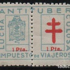 Sellos: GUIPUZCOA, 1 PTA, --LUCHA ANTITUBERCULOSA-- COMPLETA Y NUEVA, VER FOTO. Lote 128919391