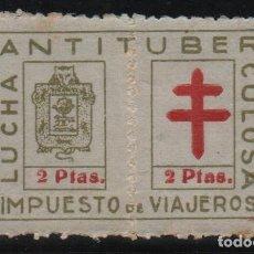 Sellos: GUIPUZCOA, 2 PTAS, --LUCHA ANTITUBERCULOSA-- COMPLETA Y NUEVA, VER FOTO. Lote 128919563
