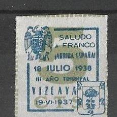 Sellos: VIZCAYA. GUERRA CIVIL.. Lote 129034051