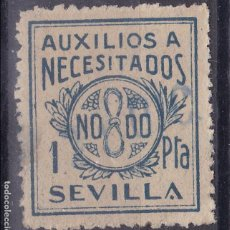 Sellos: VV10-GUERRA CIVIL AUXILIO NECESITADOS SEVILLA 1 PTA. USADO . Lote 129314763