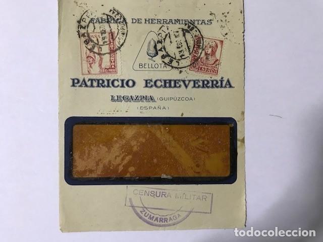 ZUMARRAGA. CENSURA MILITAR. FRONTAL DE SOBRE (Sellos - España - Guerra Civil - De 1.936 a 1.939 - Cartas)