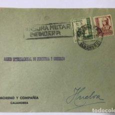 Sellos: CALAHORRA. CENSURA MILITAR. FRONTAL DE SOBRE. Lote 129560879