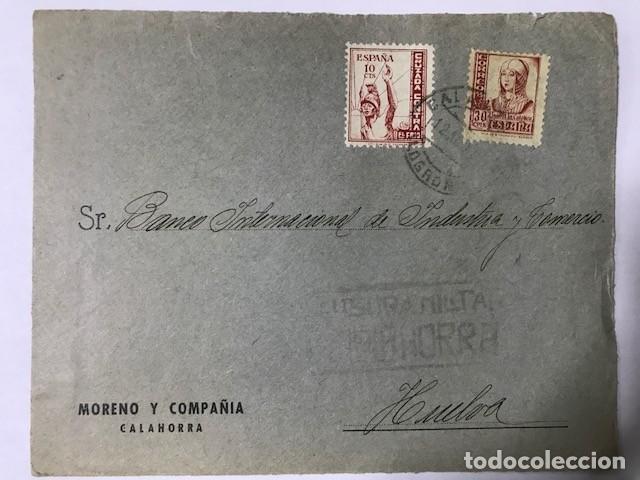 CALAHORRA. CENSURA MILITAR. FRONTAL DE SOBRE (Sellos - España - Guerra Civil - De 1.936 a 1.939 - Cartas)