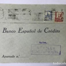 Sellos: SEVILLA. CENSURA MILITAR FRONTAL DE SOBRE. Lote 129561047