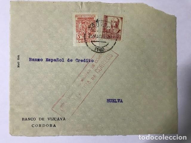 CORDOBA. CENSURA MILITAR. FRONTAL DE SOBRE (Sellos - España - Guerra Civil - De 1.936 a 1.939 - Cartas)