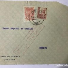 Sellos: CORDOBA. CENSURA MILITAR. FRONTAL DE SOBRE. Lote 129561159
