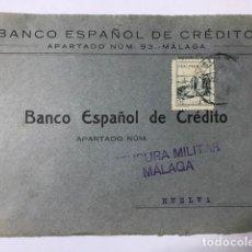 Sellos: MALAGA CENSURA MILITAR FRONTAL DE SOBRE. Lote 129564319