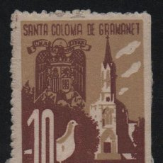 Selos: SANTA COLOMAR DE GRANOLLER, 10 CTS, -IMPUESTO MUNICIPAL- VER FOTO. Lote 129572815