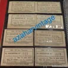 Sellos: LOTE, SEVILLA, DIA DEL PLATO UNICO, AÑO 1938 Y 1939. Lote 129586843
